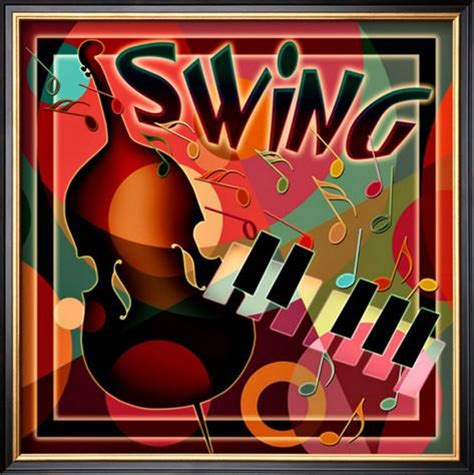 what is swing in music swing music framed giclee print at allposters com