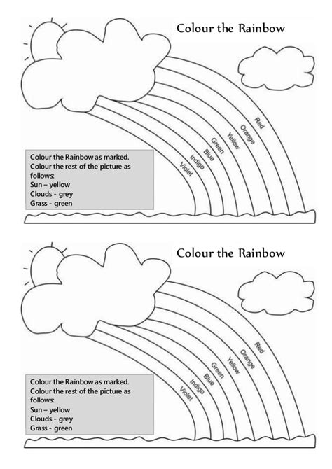 rainbow umbrella coloring page 171 funnycrafts umbrella worksheet with simple directions provides