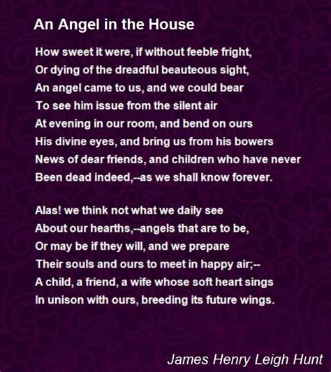poem i am in the next room an in the house poem by henry leigh hunt poem