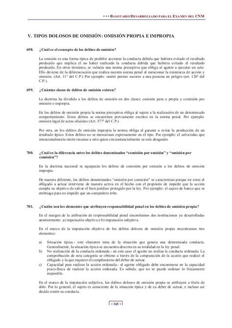 balotario desarrollado para el concurso de nombramiento de derecho penal cnm balotario