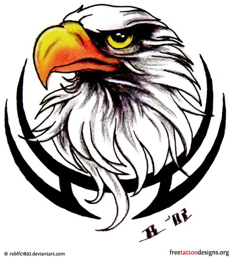 eagle head tattoos designs biker and harley davidson tattoos