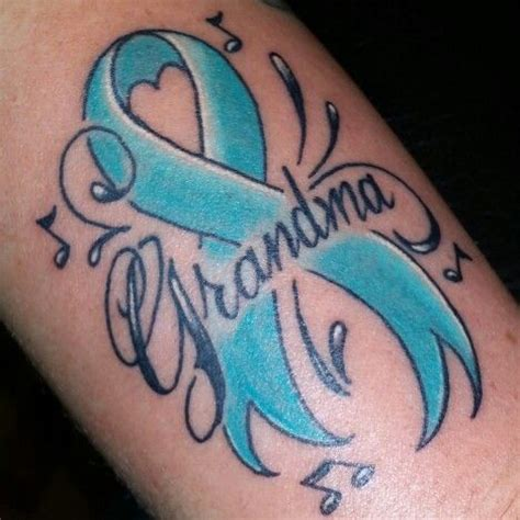 ovarian cancer tattoos cervical cancer ribbon my work