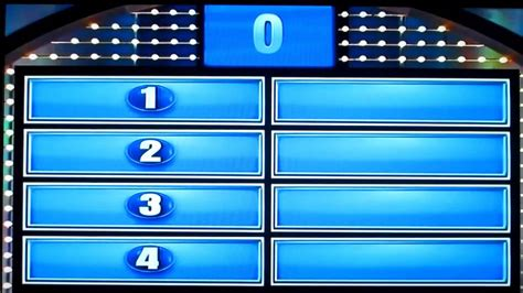 Family Feud Day 1 Part 2 Crowe Family Youtube Family Feud Free Template