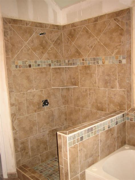 tile patterns bathroom walls shower pony wall tub surround 9 2008 pony wall tub