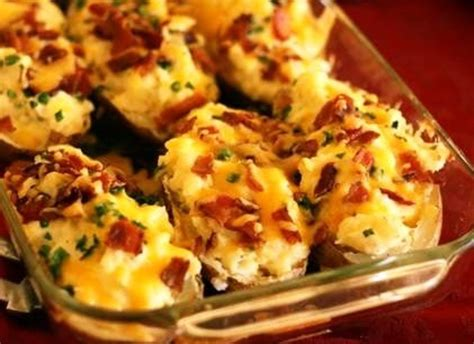 bacon cheese potato bake recipe baked potatoes with bacon and cheese recipe by