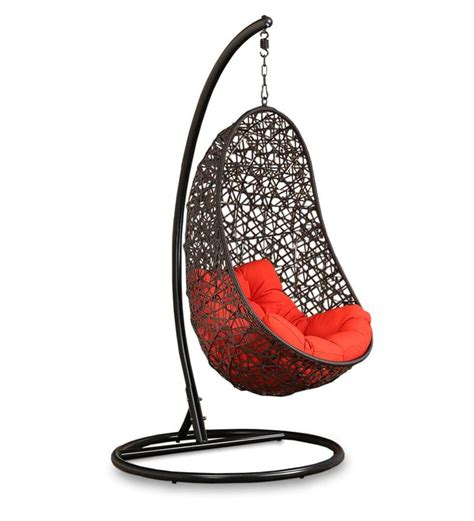 swing with stand buy begonia swing with stand orange cushion in brown