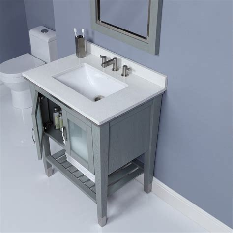 Bathroom Vanities With Legs by Decolav 30 Inch Slate Finish Bathroom Vanity Solid