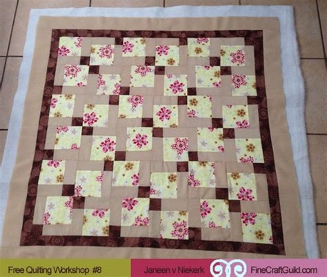 How To Quilt Fabric With Batting by How To Add Batting Backing And Bind A Quilt Free Class