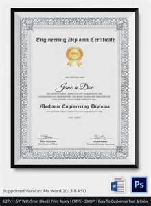 Diploma Certificate Template by Diploma Certificate Template 25 Free Word Pdf Psd