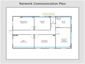 server room floor plan network communication plan