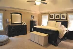 Master bedroom with black and tan color palette espresso decor love