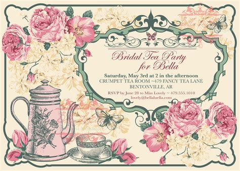 Afternoon Tea Invitation Templates Cloudinvitation Com Teacup Invitations Template