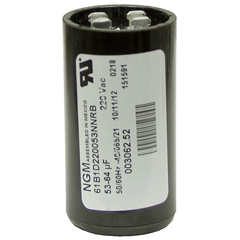 start capacitor 53 64 mfd 220 vac start capacitor ngm 61b2d220072nnrb motor start capacitors capacitors