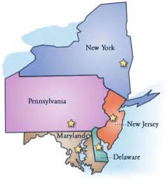 Mid Atlantic States Map by Map Of New England And Middle Atlantic States Car Tuning