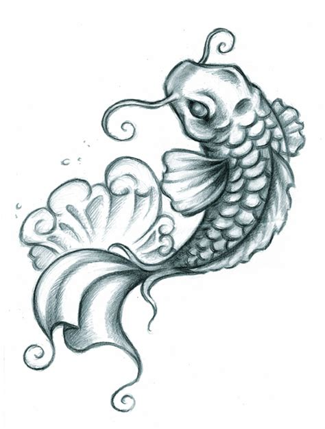 coy fish tattoo koi drawings koi fish