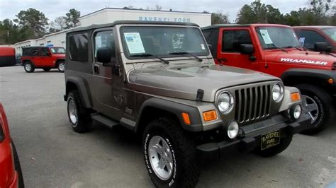 ford jeep 2005 2005 jeep wrangler tj unlimited 4x4 review charleston