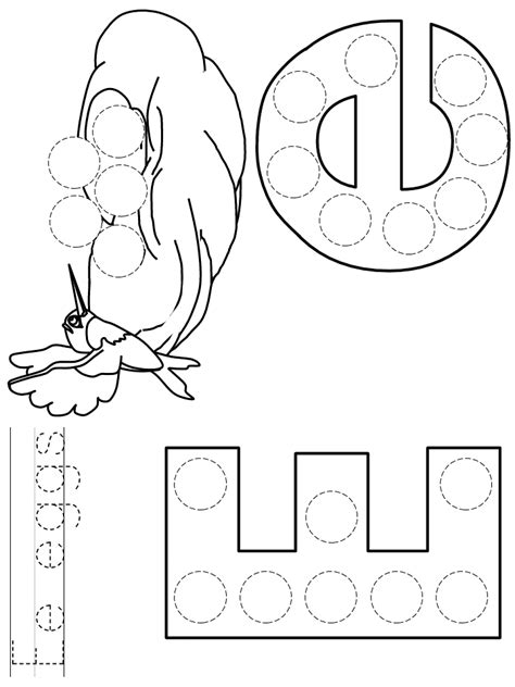 letter e do a dot art coloring page coloring home