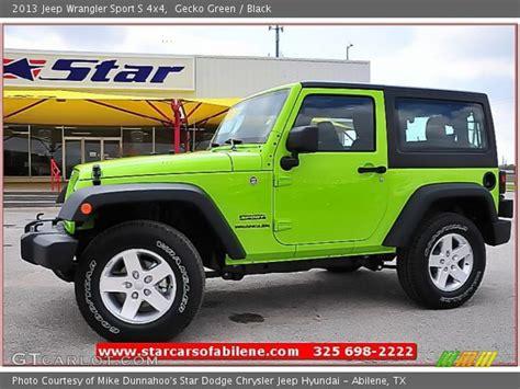 Gecko Green Jeep Wrangler For Sale Gecko Green 2013 Jeep Wrangler Sport S 4x4 Black