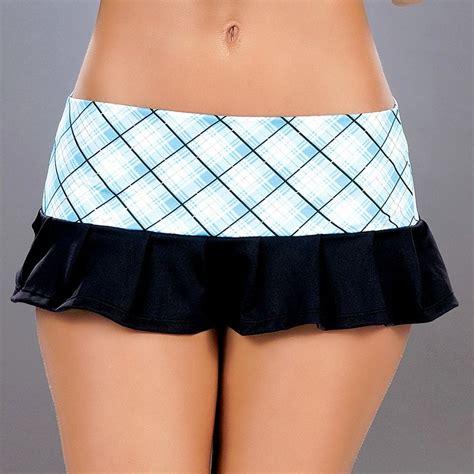 Skirt Xx62081white M L new 5003 blue plaid black pleated roller micro mini skirt s m l ebay