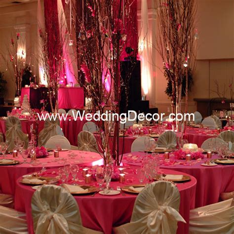 brown fuchsia wedding reception cluster tables flickr