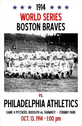 world series poster boston braves   ebay