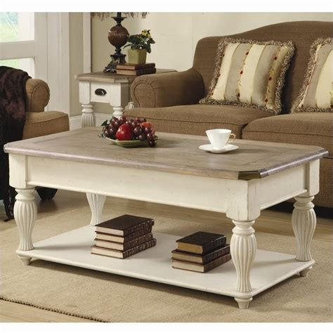 White Lift Top Coffee Table by Riverside Furniture Coventry Lift Top Rectangular Coffee