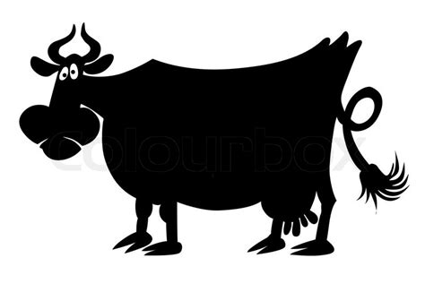 Storage Box Colour Sapi Cow Vector Silhouette Of The Cow On White Background Stock