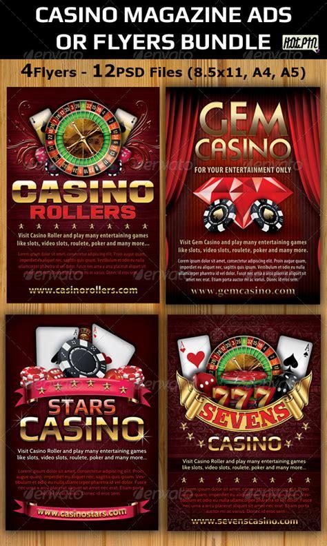 casino template casino magazine ads flyers template bundle graphicriver