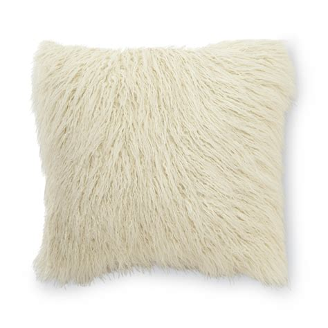 faux fur decorative pillows essential home mongolian faux fur square decorative pillow