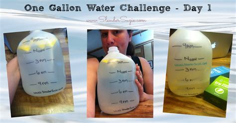 2 litre milk challenge one gallon water challenge day 1 slender