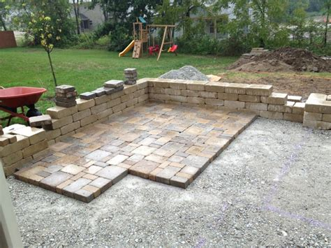 Diy Patio With Pavers Patio Made With Pavers Diy Patio With Pavers Diy Paver Patio Ideas Interior Designs