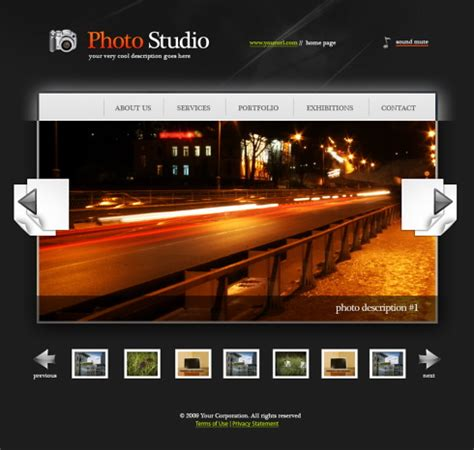 Photo Album Website Template Free