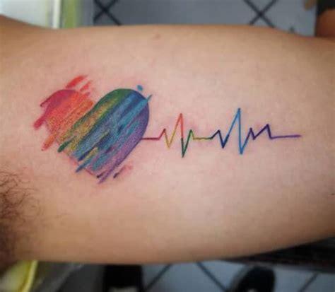 semicolon tattoo adalah heartbeat tattoo on the upper arm makes a man look gallant