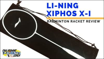 Raket Lining Xiphos X1 badminton equipment archives paul stewart advanced