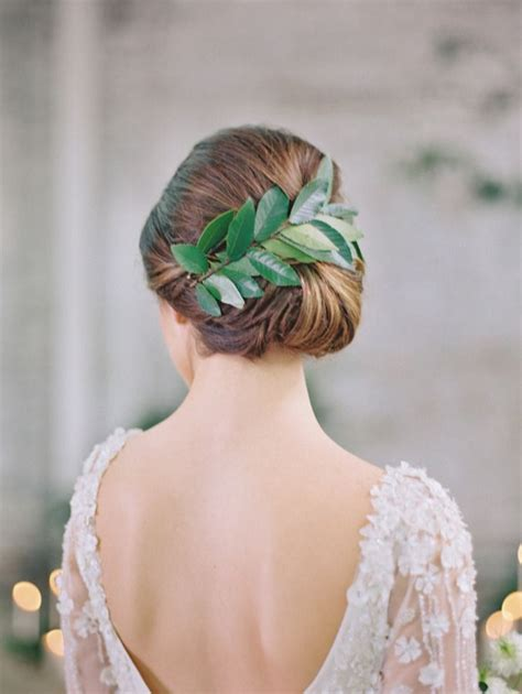 black tie hairstyles black tie botanical wedding inspiration bridal updo