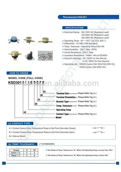 Best Product Thermostat Ksd302 55 Deegre Celcius thermodisc temperature switch thermal switch 120v thermal
