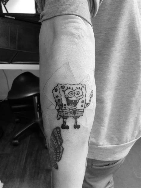 spongebob tattoo spongebob tattoos designs ideas and meaning tattoos for you