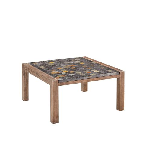 Hton Bay Belleville Tile Top Patio Coffee Table Tile Top Patio Table