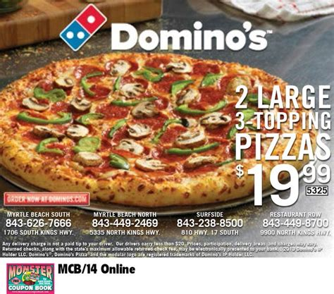 domino pizza wednesday offer 186 best images about coupons for myrtle beach on