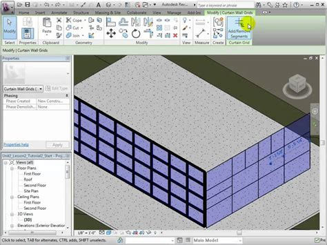 pattern grid revit revit architecture adding and removing curtain grids and