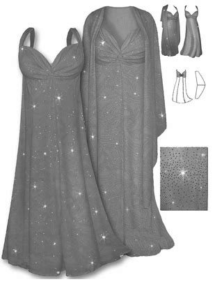 SOLD OUT! SALE! Lovely Gray Glitter 2 Piece Plus Size SuperSize Princess Seam Dress Set 0x