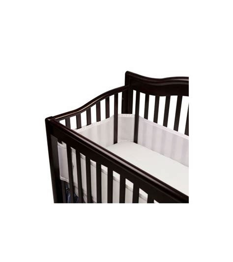 White Breathable Crib Bumper by Breathable Baby Breathable Safer Bumper Fits All Cribs