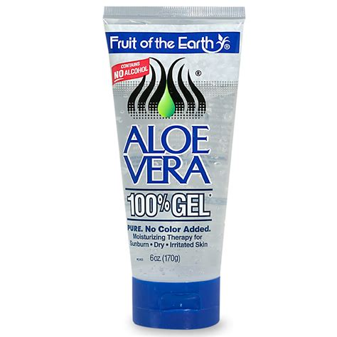 fruit of the earth fruit of the earth aloe vera 100 gel clear
