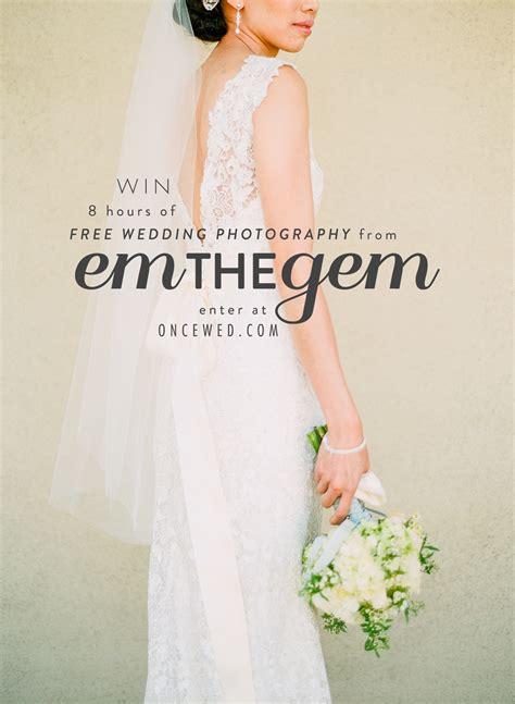 Wedding Day Giveaways - win a wedding photography package from em the gem wedding day giveaways