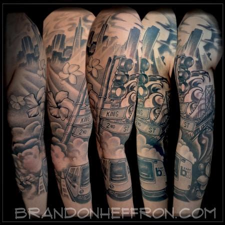 bay area tattoo designs san francisco bay area transit by brandon heffron tattoonow