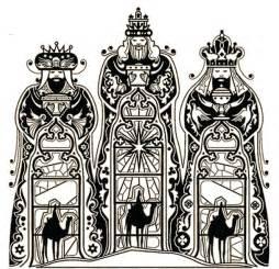 dibujos para colorear para adultos reyes magos los tres