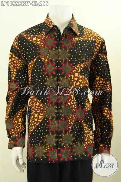 Kemeja Batik Pria Terbaru Lengan Panjang Mewah Elegan model baju batik elegan dan mewah pakaian batik