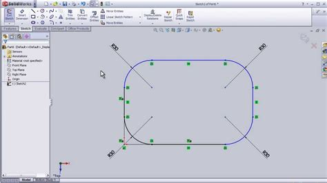 pattern a sketch solidworks 17 solidworks sketch tutorial sketch fillet youtube