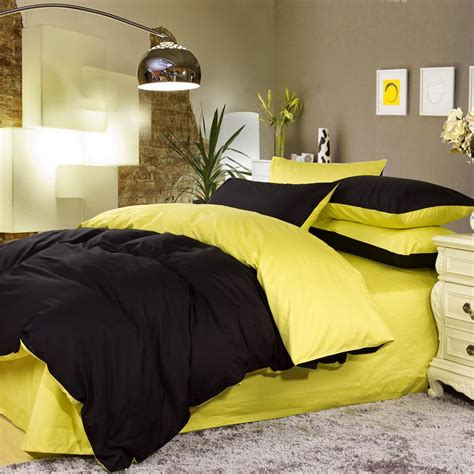 yellow bedroom set yellow and black bedding myideasbedroom com