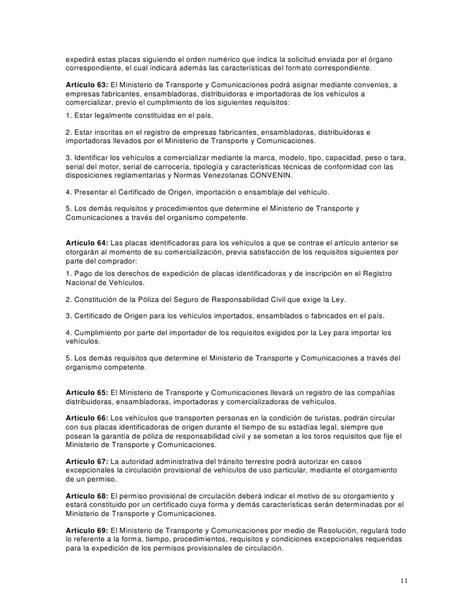 reglamento de la ley de comunicaciones y transportes en el share the reglamento de la ley de transporte para el estado de